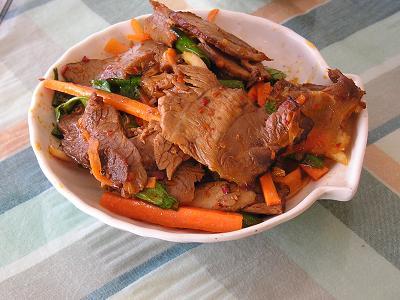 レストラン 桂林人チャシューの炒め物