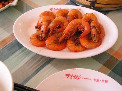 レストラン 桂林人川エビのピリ辛炒め