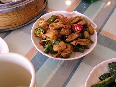 レストラン 桂林人 内臓の炒め物